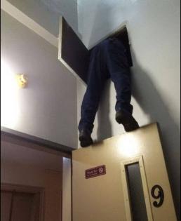 ¡Alguien dejo la puerta abierta! Deja cerrarla.
